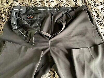 Men's 44x32 Dress Pants Van Heusen Traveler Pants - Black w/ Waist Band Extender