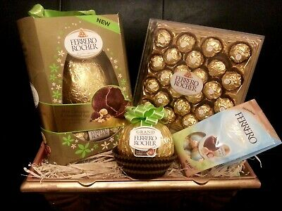 Luxurious Ferrero Rocher Chocolate Egg Gift Hamper Birthday Easter Lindt Lindor