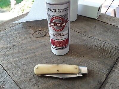 Great Eastern Cutlery GEC Stallion Knife Natural Smooth White Bone #748117