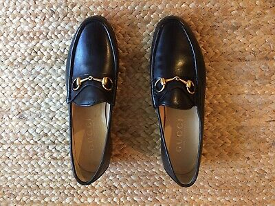 Men's GUCCI Horsebit Black Leather Classic Vintage Loafers Size 10