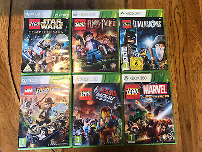 xbox 360 games bundle X 6. Kids,Lego Star Wars, Harry Potter, Marvel, Lego Movie