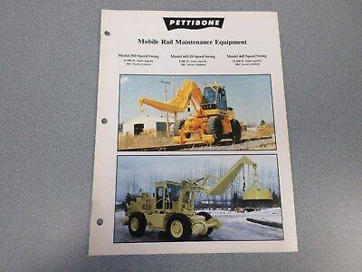 Rare Pettibone Mobile Rail Maintenance Equipment Sales Brochure
