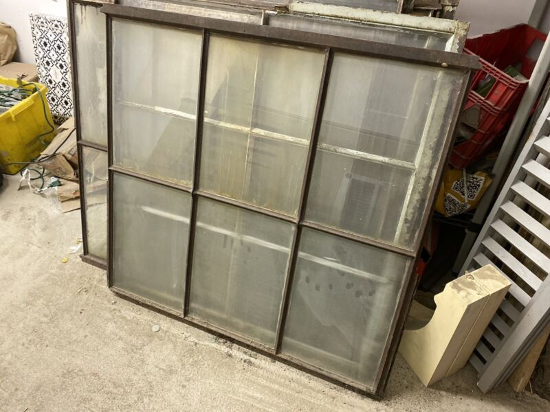 Reclaimed Vintage Industrial Factory Steel Framed Casement Glass Windows 6 Pane