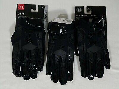 Under Armour UA Spotlight Football Gloves Mens Small White 1304698 100 Glue Grip