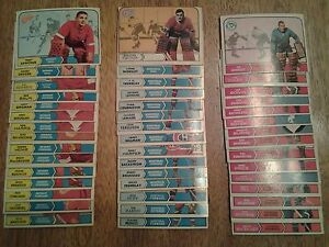 186 HOCKEY CARDS YEARS 1965