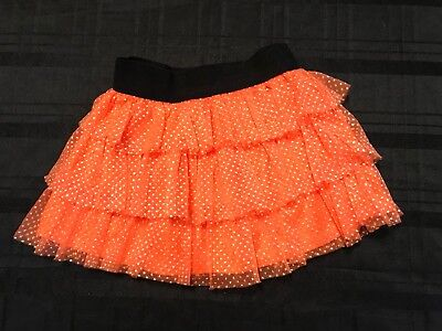 Baby Girl Polka Dot Orange Halloween Ruffled Skirt Size 24M (Polka Dot Skirt Halloween)