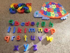 Casse tete pour enfant et lettre magnetique