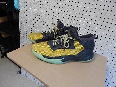 0e736f036417 Adidas D Lillard 2 B72598 Men Black Gold Sport Basketball shoes - size 15