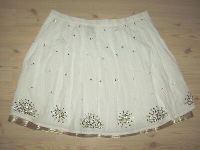 (Venizia Womens Skirt Size 22 White Sequin Gold Trim Spring Summer Dressy )