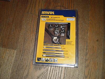 NEW Irwin Hanson 24605 Tap & Die Set 12pc All-Purpose SAE USA MADE