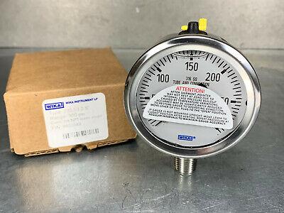 Wika 9833549 Industrial Pressure Gauge 300 Psi 14 Npt 2-12 Stainless
