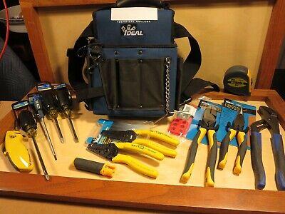 Ideal Industries Journeyman Electricians Tool Kit - New 14 Piece Tool Set