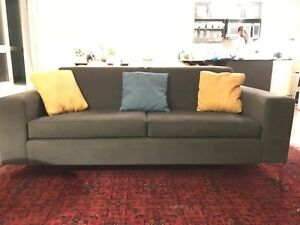 Charcoal grey custom couch