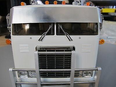 Tamiya RC 1/14 Globeliner Semi Truck Front Drop Lowrider Sun Wind Visor Plate for sale  USA