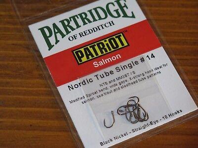 Size 4//0 Qty 10 STB Patriot Barbless Stinger Hook Partridge Hooks