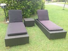 5 piece wicker outdoor pool lounger setting Sippy Downs Maroochydore Area Preview
