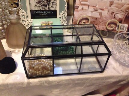 French provincial high quality trinket glass box North Lakes Pine Rivers Area Preview