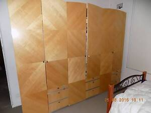 WARDROBE  WOODEN  TIMBER    3  PIECES Beverley Park Kogarah Area Preview