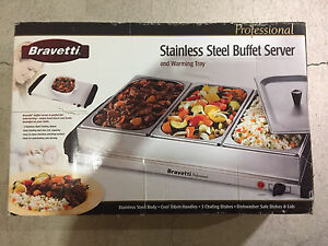 Stainless steel buffet server
