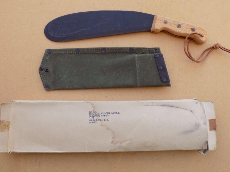 Rare Vietnam Sog Bolo Knife with Original Box
