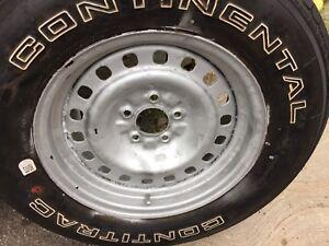 Four all season tires tires on rims + spare