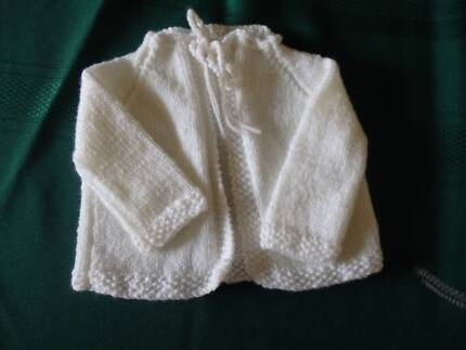 a582c07f8 NEW - HAND KNITTED BABY DRESS - white