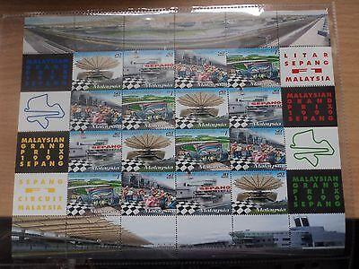 Malaysia 1999 17 Oct Malaysian Grand Prix, Sepang Sheetlet 4 x 20,30,50 sen, 1r