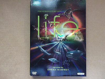 Life  Narrated By Oprah Winfrey   Bbc Earth     4 Dvd Set  Like New