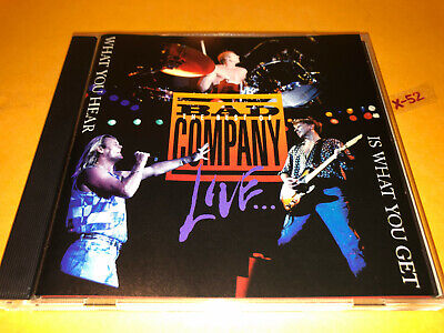 Best of BAD COMPANY LIVE hits CD Holy Water Rock n Roll Fantasy Cant Get