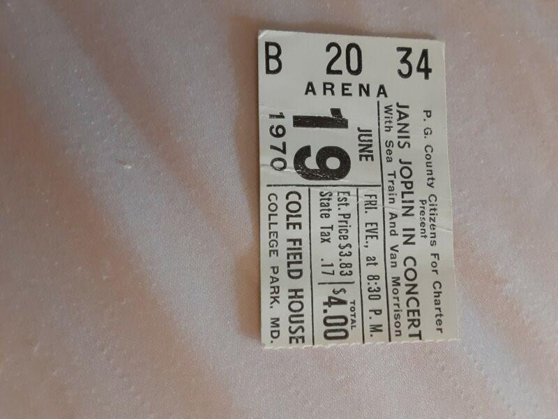 Janis Joplin Ticket Stub 1970