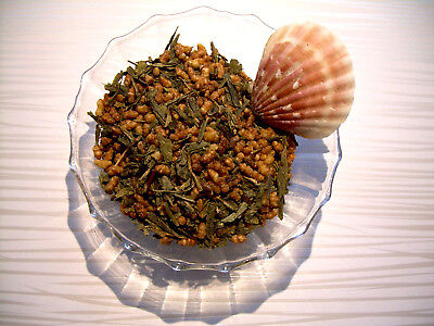 - Tea Genmaicha Japanese Blended Loose Leaf Green Tea Pure & Natural Flavor