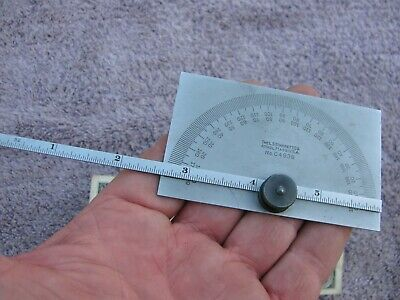 Starrett C493b Satin Protractor Toolmaker Machinist Tool
