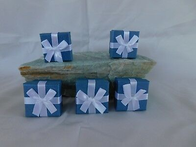5 Ring Gift Boxes 1-34x1-34 Square Satin Lined With Bow