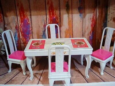 Barbie dining set 5pc. ! Vlintage. 1980s. Mattel. Marvelous find! Rare