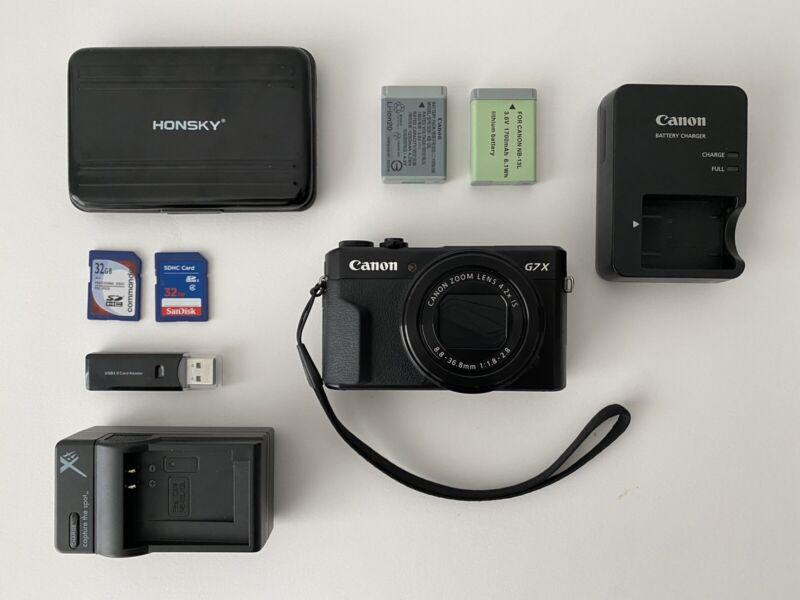 Canon PowerShot G7 X Mark II Digital Camera + Accessories