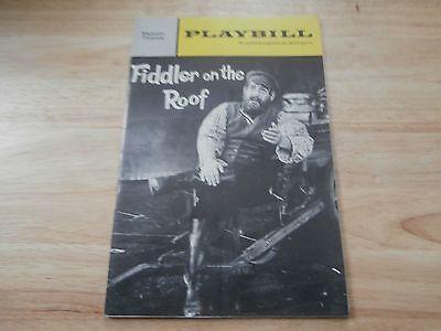 Playbill Program Fiddler on the Roof 1967 Majestic Theatre Herschel Bernardi