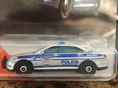 MATCHBOX 2020 MBX CITY FORD POLICE INTERCEPTOR 28/100 SILVER