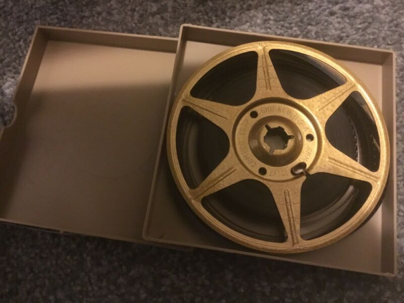 """5"""" Super 8mm Compco Movie Film Metal Take Up Reel 200' with Home Movie"""