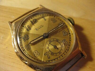 RARE EARLY ROLEX TUDOR 1930'S ART DECO PERIOD 9CT SOLID GOLD VINTAGE MENS WATCH