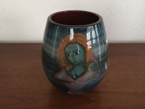 POLIA WILLIAM PILLIN STUDIO VASE POTTERY CERAMIC POT MID CENTURY MODERN ERA