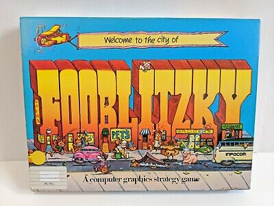 Atari Fooblitzky 8-bit 48k 400 800 XL 130 XE 810 1050 Computer Video Game Disk