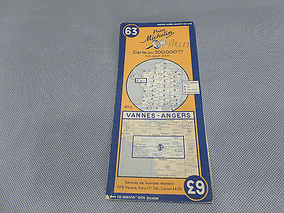 Card Michelin 63 Valves-Angers 1947/Collector Bibendum Vintage
