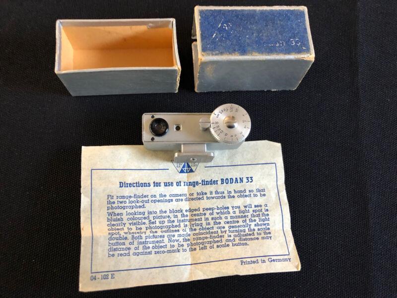 Askania Bodan 33 Range Finder Rangefinder, vintage photography w instructions