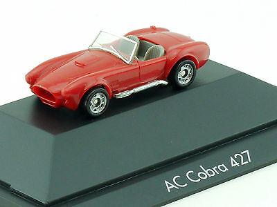 Monogram AC Cobra 427 seltene Farbe rot Modellauto PC Vitrine EVP 1411-17-66
