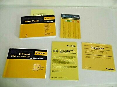 Fluke Users Manual For Infrared Thermometer 62 Max Clamp Meter 323324325