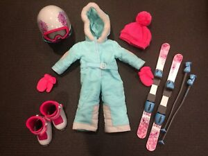 American Girl Ski Suit & Accessories