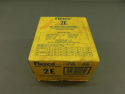 New Flexco 2e 20005 Steel Belt Fasteners 25 Complete Sets - New Surplus