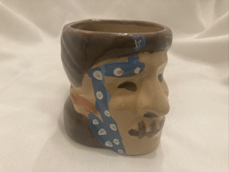 Vintage 60's 70's Shrunken Head Tiki Mug Mai Kai Ft. Lauderdale Polynesian Mug