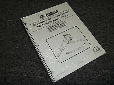 Bobcat Hb980 Hb1180 Hydraulic Breaker Owner Operator Maintenance Manual