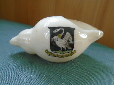 ARMS OF WYCOMBE BUCKINGHAM - SEA SHELL - CORONET CRESTED CHINA